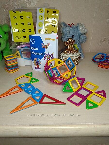 Магнитный конструктор 148 дет. детский любимец от 3 до 10 лет