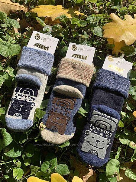 Махровые носочки с тормозами