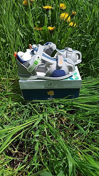 Кожаные босоножки для мальчика Tom. m 9123D, 18-23 размеры.