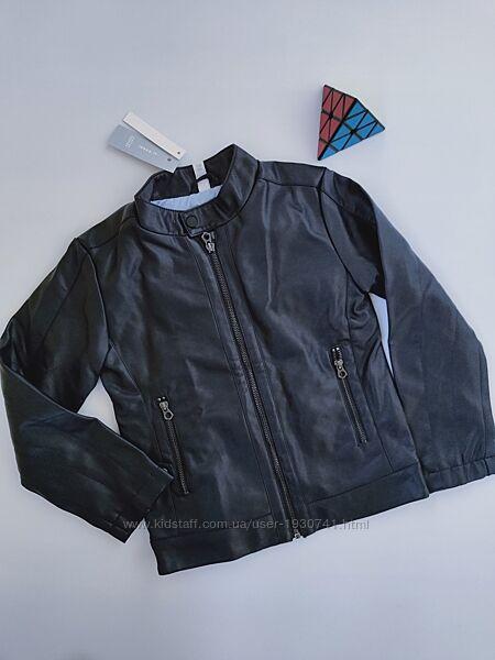 Мега крутая куртка эко кожа,  кожзам IDEXE, p-p 128 см, на 7 - 8 лет