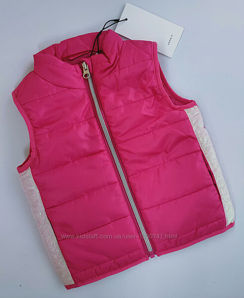 Розовая безрукавка, жилетка для девочки Name it, размер 74 - 80, 9 - 12 мес