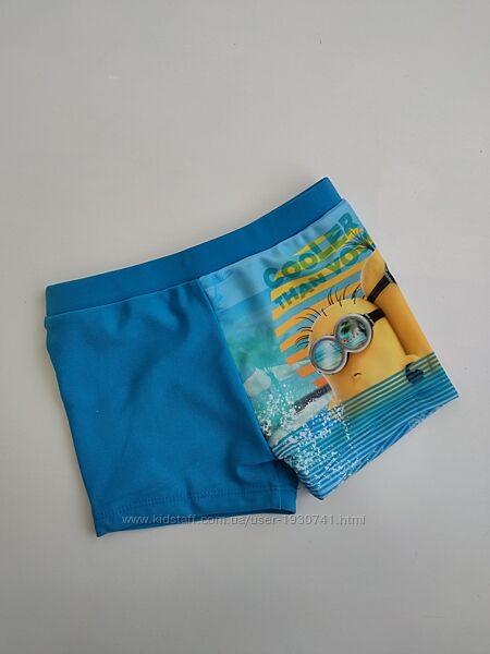 Голубые синие плавки с Миньоном Disney  98 / 104, 110 / 116, 122 / 128