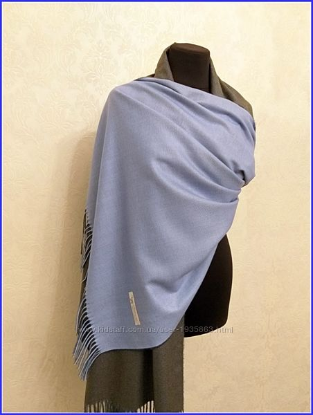 Кашемировый шарф двухцветный пашмина унисекс
