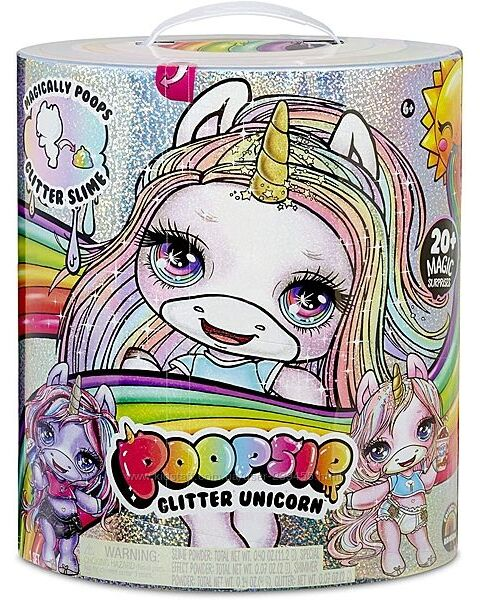 Блестящий Единорог Пупси слайм Poopsie Surprise Glitter Unicorn Pink Purple