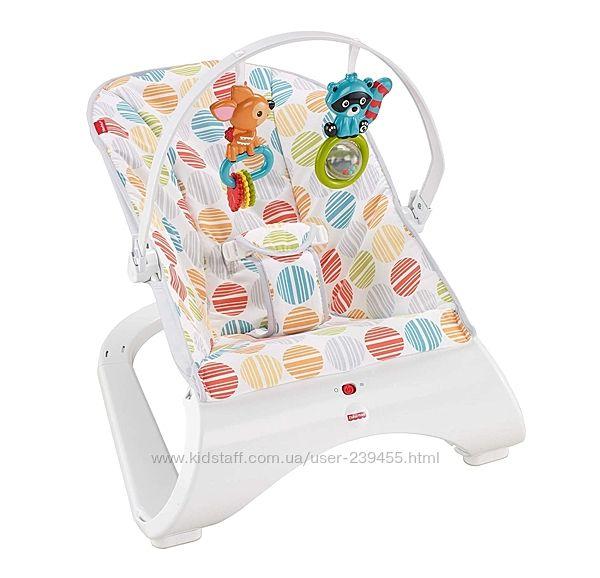 Детский шезлонг кресло качалка фишер прайс Fisher-Price Comfort Curve Bounc