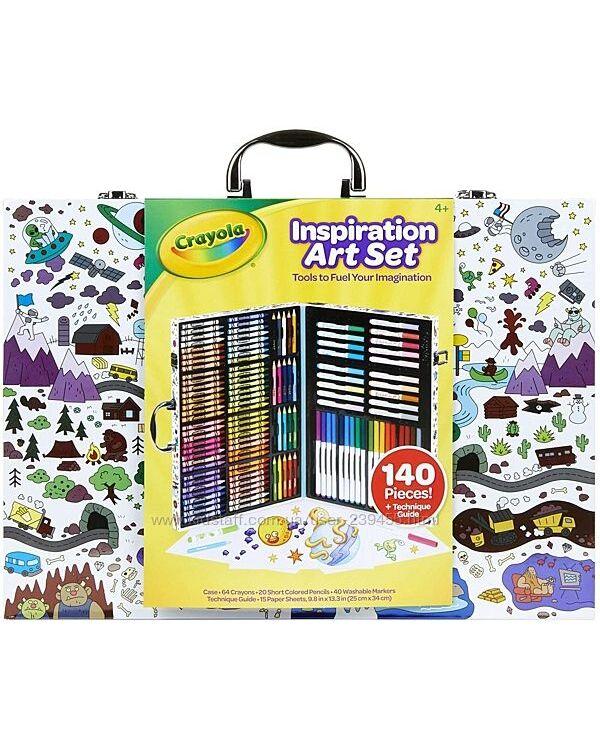 Crayola 140 предметов Inspiration Art Case Набор для рисования Крайола