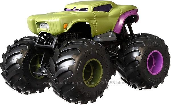 Монстер Трак Хот Вилс Халк Hot Wheels Monster Trucks Hulk 124