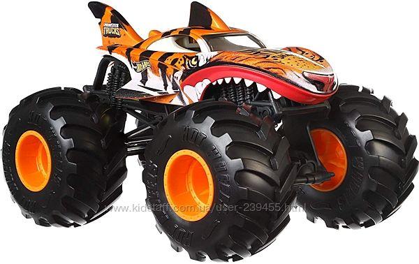 Монстер Трак Хот Вилс тигровая Акула Hot Wheels Monster Trucks Tiger Shark