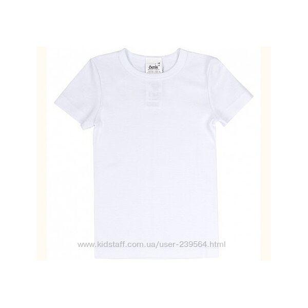 Белая футболка ТМ Бемби р98-146