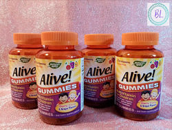 Natures Way, Alive Детский жевательные мультивитамины 60 шт