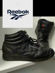 Reebok черные кожаные кроссовки 38