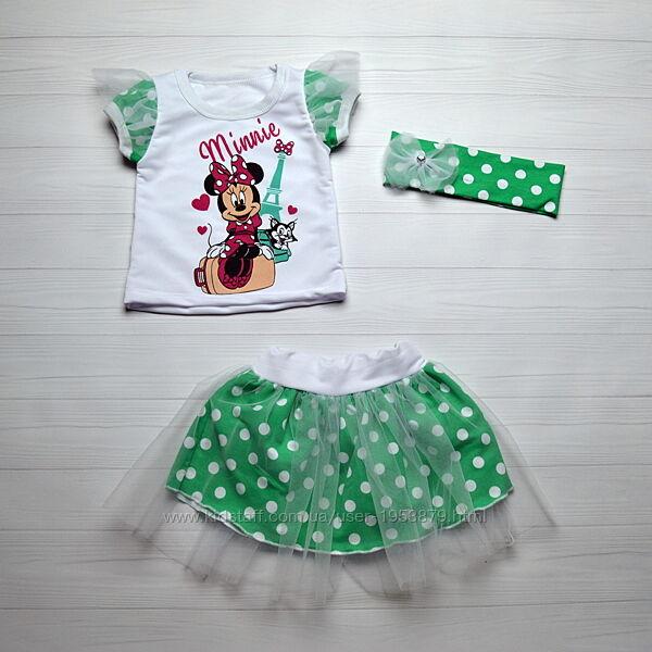 Нарядный костюм на девочку 1-6 лет