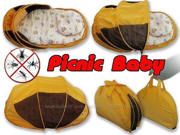 Складная сумка-кровать с матрасом и подушкой Picnic Baby Ontario Li