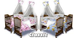 Постельный комплект в детскую кроватку Classic с бортами 180х40 и 360х40