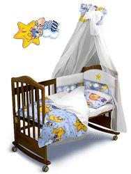 Постельный комплект в детскую кроватку Premium 180х40 или 360х40