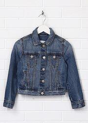 Очень классный джинсовый пиджак куртка фирмы GAP6-8лет