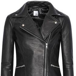 Кожаная куртка в байкерском стиле Iris & Ink