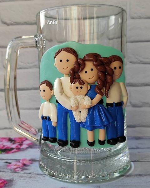 Пивной бокал Семья