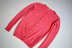 Кофта кашемир ангора лана шерсть свитер на пуговицах Италия коралловый S/M