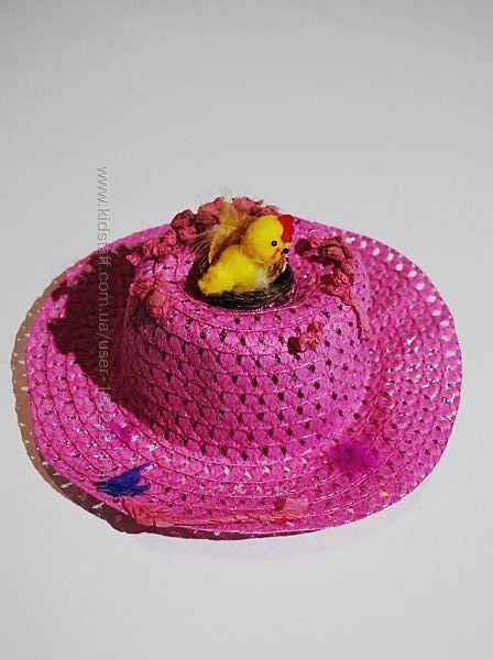 Шляпа панама карнавальная цыпленок курочка гнездо 3 4 5 лет на утренник