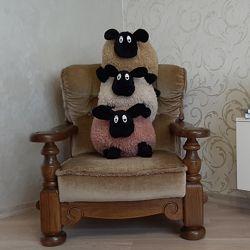 Мягкая игрушка овечка Ягнешка  новая подружка барашка Шон. Ручная работа.