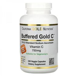 California Gold Nutrition, буферизованный витамин C в капсулах,750 мг,240шт