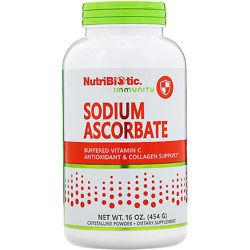 NutriBiotic, Витамин С , аскорбат натрия, кристаллический порошок,454 г