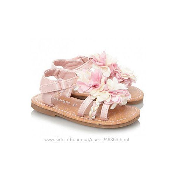 Босоножки детские george pink flower р. 22