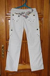 Летние белые брюки штаны