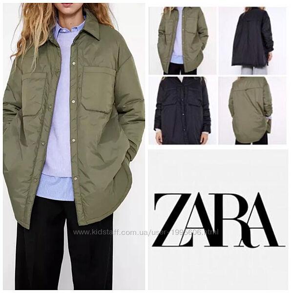 Куртка рубашка oversize Zara