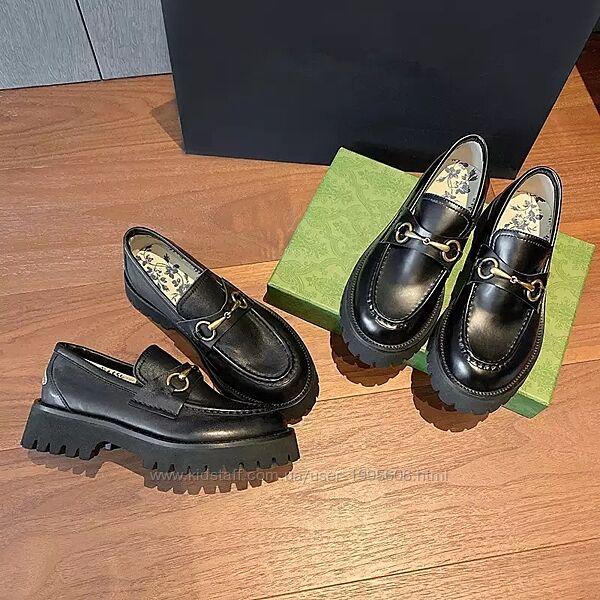 Туфли лофеоы в стиле Gucciii