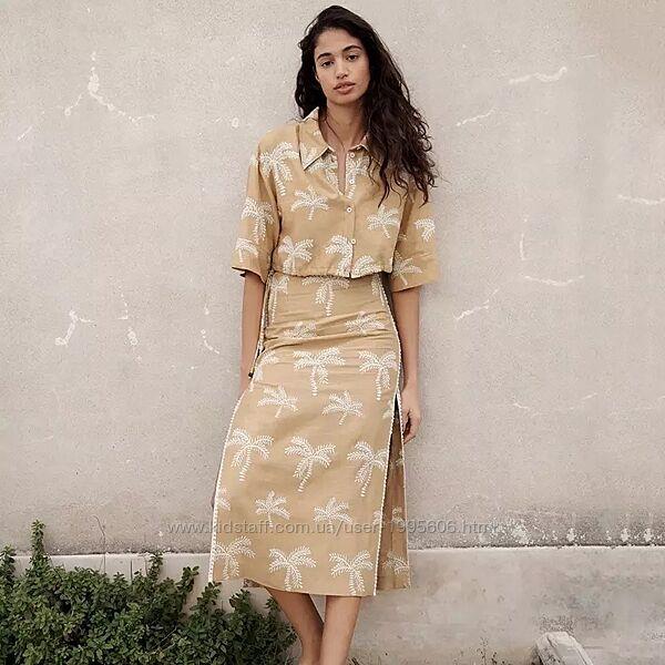 Льняной костюм от Zara