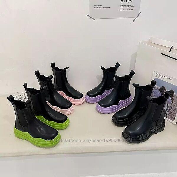 Шикарные ботинки Челси в стиле Bottega Vanetta