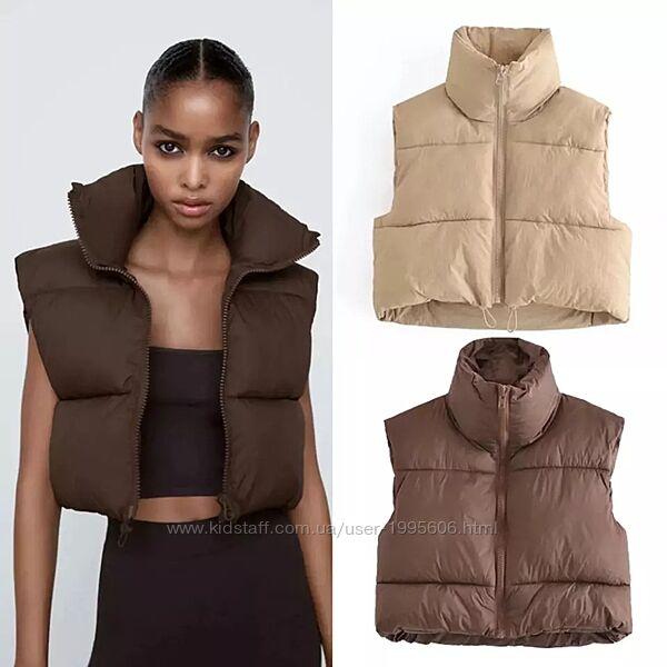 Куртка жилет жилетка в стиле Зара Zara
