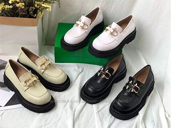 Туфли лоферы в стиле Bottega