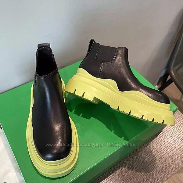 В наличии шикарные ботинки Челси в стиле Bottega Venetta