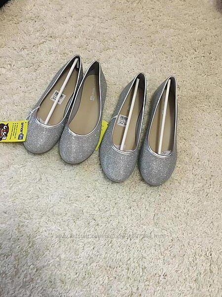 Туфли балетки для девочки 21 22 см.