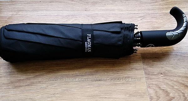 Зонт полуавтомат 10 спиц антиветер Flagman