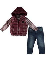 Новый комплект Жилетка-джинсы-рубашка Monna Rosa Milano, много размеров