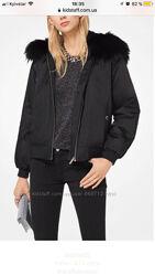 Бомбер ветровка куртка Michael Kors оригинал с натуральным мехом
