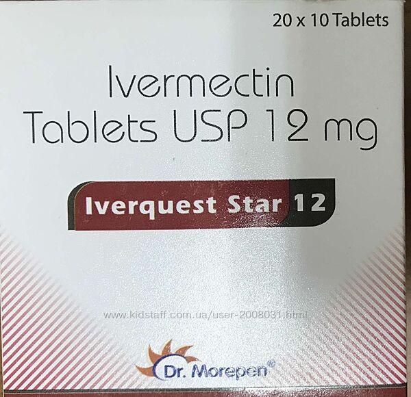 Ивермектин12 Иверквест Dr. Morepen- Iverquest Star-12 Ivermectin 12 Mg