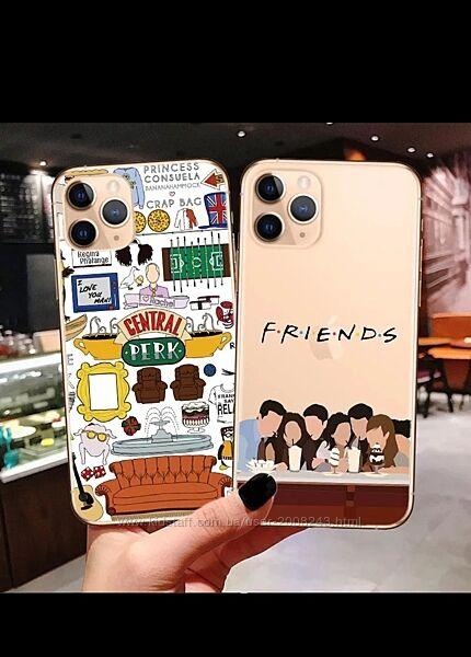 Чехол для телефона iPhon Центральная кофейня с надписью ТВ шоу friends
