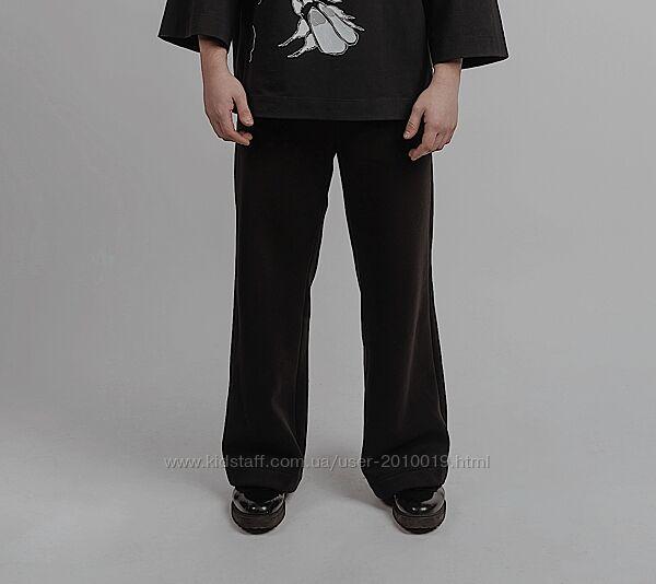 АКЦИЯ Мужские штаны из турецкой трехнитки на футере черного цвета