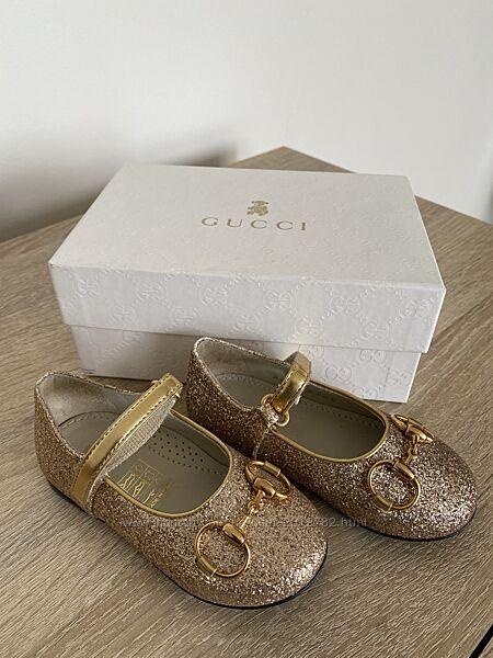 Детские фирменные туфельки Gucci