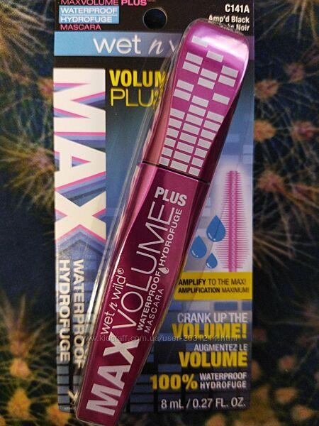 Водостойкая тушь для ресниц Max Volume Plus, оттенок Amp&acuted Black, 8мл