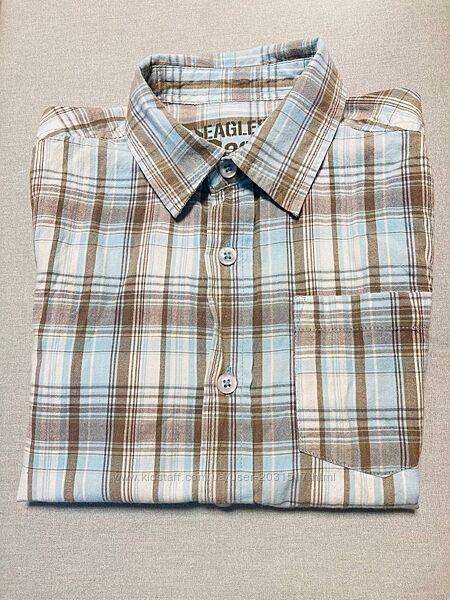 Рубашка с коротким рукавом, на возраст 6-7 лет