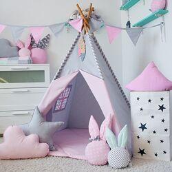 Вигвам, типи, шалаш, игровая палатка детская коврик 2подушки в подарок Акция