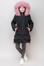 Очень теплая зимняя курточка-пальто для модниц  рост 146 см