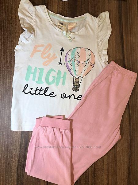 Пижама 4-6лет 110/116см H&M в идеальном состоянии