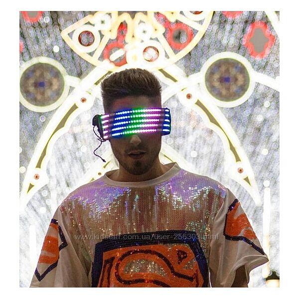 Светодиодные очки Glowing Rave Screen Mask Line Model
